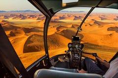 Helikopter i den döda dalen Fotografering för Bildbyråer