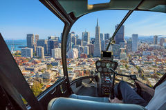 Helikopter i San Francisco Royaltyfri Bild