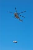helikopter lata ładunku Obraz Stock