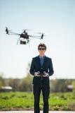 Helikopter met afstandsbediening royalty-vrije stock afbeeldingen