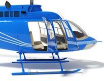 Helikopter met open deuren Stock Afbeelding