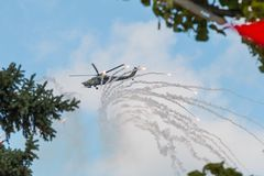 28 helikopter mi Royaltyfri Fotografi