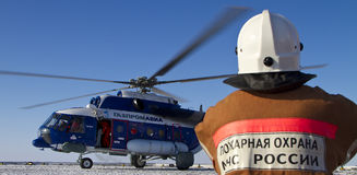 Helikopter MI-8 Royaltyfria Foton