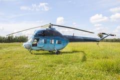 2 helikopter mi Royaltyfri Fotografi