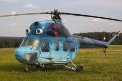 2 helikopter mi Arkivbild