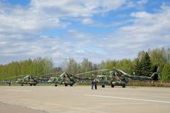 8 helikopter mi Arkivbilder
