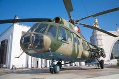 Helikopter Mi-8 i VDNKh 17 07 2018 Royaltyfria Foton