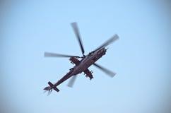 Helikopter Mi-24 på Radom Airshow, Polen Arkivbilder