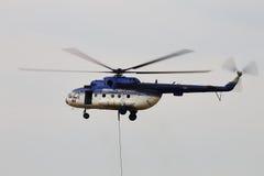 Helikopter MI-17 på SNEDHET 2015 Royaltyfria Foton