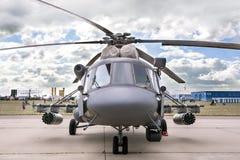 Helikopter mi-8 vooraanzicht Stock Foto's