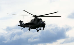 helikopter mi24 Royaltyfri Bild