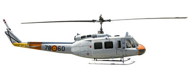 helikopter odizolowane Zdjęcia Stock