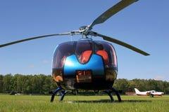 Helikopter op grond Royalty-vrije Stock Foto's