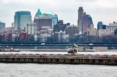 Helikopter op helihaven in New York Royalty-vrije Stock Foto