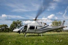 Helikopter op start Royalty-vrije Stock Afbeelding