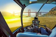 Helikopter på bagaren Beach Royaltyfri Bild
