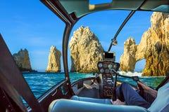Helikopter på Cabo San Lucas Royaltyfria Foton