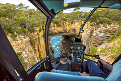 Helikopter på den Tasman bågen Arkivbild