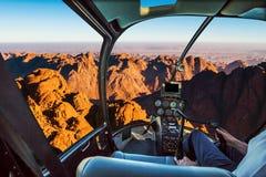 Helikopter på Mount Sinai Arkivfoton