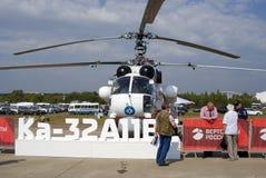Helikopter pokazywać przy MAKS Międzynarodowym Kosmicznym salonem Zdjęcia Stock