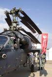 Helikopter przy MAKS Międzynarodowym Kosmicznym salonem Obraz Stock