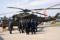 Helikopter przy MAKS Międzynarodowym Kosmicznym salonem Zdjęcie Stock