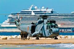 helikopter som seaking Arkivfoto