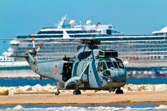 helikopter som seaking Fotografering för Bildbyråer