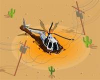 Helikopter som skjutas ner sammansättning royaltyfri illustrationer