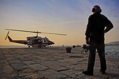 Helikopter som tar av Royaltyfri Fotografi