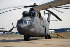Helikopter som visas på den internationella rymdsalongen för MAKS Royaltyfria Foton