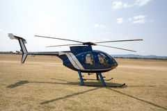 Helikopter ter plaatse Stock Foto