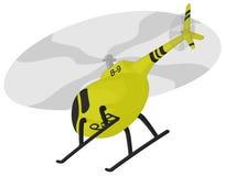 Helikopter (tijdens de vlucht) Stock Foto