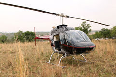 Helikopter używać strzałek zwierzęta od powietrza Fotografia Stock
