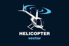 Helikopter vectorembleem, vectorillustratie Royalty-vrije Stock Foto's