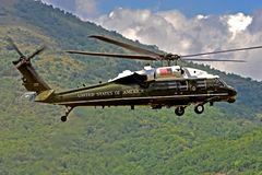 Helikopter voorzitter de V.S. Stock Foto