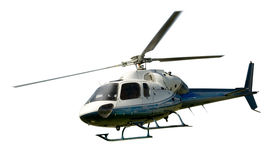 Helikopter w locie odizolowywającym przeciw bielowi Zdjęcia Stock