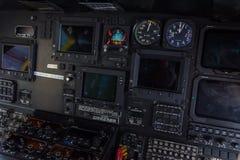 Helikoptercockpit royalty-vrije stock afbeelding