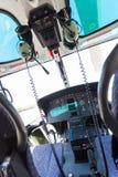 Helikoptercockpit Arkivfoto