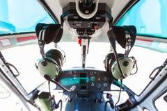 Helikoptercockpit Fotografering för Bildbyråer