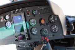 Helikoptercockpit Royaltyfri Bild