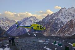 Helikopterevakuering Fotografering för Bildbyråer