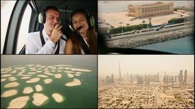 Helikopterexcursie over Doubai het jaar van 2014 Verenigde Arabische emiraten stock footage