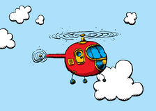 helikopterillustration Royaltyfria Bilder