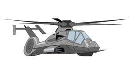 helikopterillustrationmilitär Arkivfoto