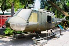 Helikopterklok uh-1 Iroquois in het Museum van Oorlogsresten, Vietnam Royalty-vrije Stock Foto's