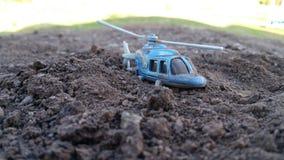 Helikopterländer på kullen Royaltyfri Foto