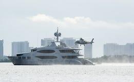 helikopterlandning Royaltyfri Foto