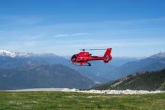 Helikopterlandning Arkivbilder