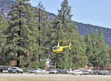 Helikopterlandning Fotografering för Bildbyråer
